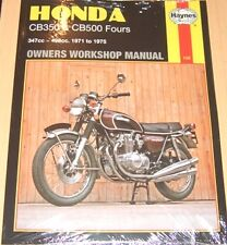 Haynes Workshop Manual HONDA CB  CB350 & CB500 Fours 1971 to 1975