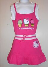 Hello Kitty by Sanrio Girls Spring Summer Skirt + Graphic Top Fushia 6 NWT