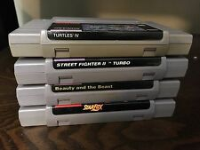 Turtles In Time, Beauty And The Beast, StarFox, Street Fighter 2 Turbo SNES lot