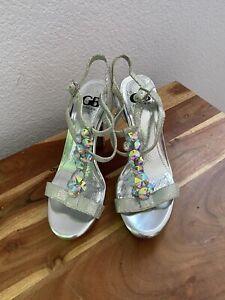 Giani Bini Womens Silver Shoes Size 7.5