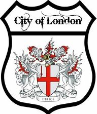 1 x City of London Flag Decal Car Motorbike Laptop Window Sticker - Free P & P