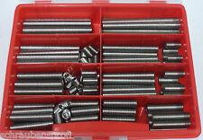 80 Teile Edelstahl Gewindestifte Madenschrauben Sortiment Box M6 Din 913
