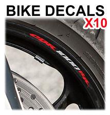 10X HONDA CBR 1000RR MOTORCYCLE BIKE WHEEL STICKERS DECALS TAPE RIMS