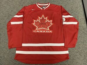 2010 Olympics Hockey Canada Jersey Vancouver Red Home Nike Crosby Large L Iihf