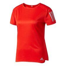 Camiseta de deporte de mujer rojos de poliéster