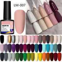 LEMOOC 8ml Matt Nagel Gellack Gel Nail Polish Gel UV Nagellack Soak Off Gel