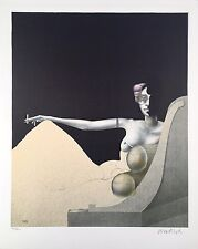 "Paul Wunderlich, Ltd. Ed. Original lithograph, hand signed,""Madame Recamier"""