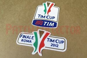 Italy TIM Cup 2012 final Juventus vs Napoli Sleeve Velvet Soccer Patch / Badge