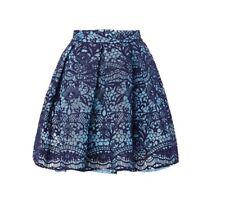 BNWOT Maje Damas Azul con falda de encaje JEKO Talla 2 Talla 10 £ 185