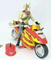 "Biker Mice from Mars Deluxe Vinnie 6"" Figure w/ Motorbike Giochi Preziosi 2007"