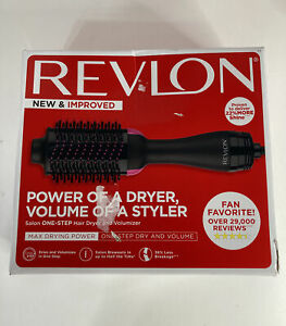Revlon One Step Hair Dryer and Volumizer Brush Black and Pink Improved Version