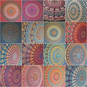 Peacock Mandala Tapestry Wall Hanging Throw Hippie Bohemian India 100% Cotton