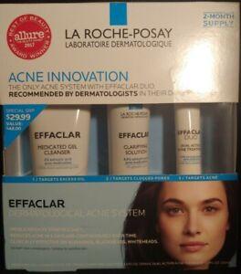 La Roche-Posay Effaclar Dermatological Acne System - 3 Piece  Exp 04/2021