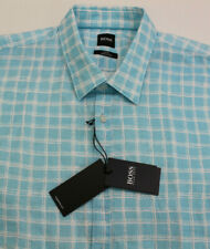 Hugo Boss Plaid SS Shirt Mens XL Ronn Slim Fit