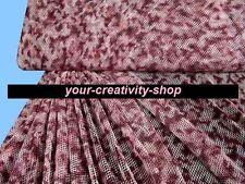 Netz Stoff rosa weinrot rot, 1 Meter, 150 cm breit, Meterware Netzstoff