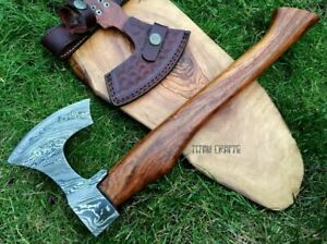 TITANs Handmade Damascus Steel Axe Hunting Camping Classic Amazing Gift 35cm XL1