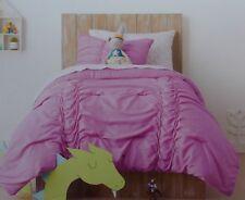 Pillowfort Glitter Ruched Comforter + Sham Bed Set ~ NWT Twin