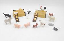 Playmobil Figuren Bauernhof Tiere Misthaufen Hahn Henne Küken Ferkel Ziege Katze
