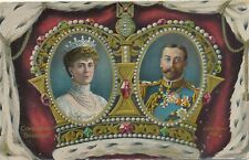 King George V and Queen Mary June 22, 1911 Coronation Souvenir Tuck Postcard