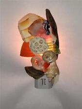 Driftwood Seashell Night Light (N) Nautical Decor Beach Glass Collectible Gift