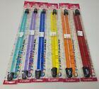 """Lot of 6 Assorted Sizes VTG Susan Bates Acrylic Crystalites 10"""" Knitting Needles"""
