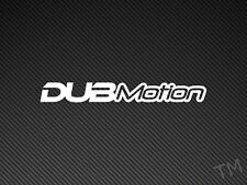 DubMotion Car Sticker Decal Dub, VW Golf, Polo, Jetta