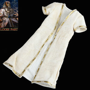 "TBLeague PL2021-178B 1/6 Scale Pharaoh Tutankhamun White 12"" Figure War Robe"