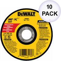 "DeWalt DW8062 4-1/2""x.045""x7/8"" Metal Angle Grinder Thin Cutoff Wheel, 10 Pack"