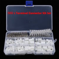 560pcs Wire Jumper 2/3/4/5 Pin Header Connector Housing Kit + M/F Crimp Pins New