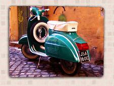 Retro Vintage Estilo Scooter imagen Decorativa De Metal Sign Pared Puerta Placa De Regalo