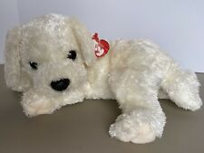 Ty Classic Tidbit Puppy Dog White W/Brown Collar, 2001 with tags