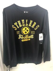 Pittsburgh Steelers Women's Small Nfl Sweater-knit Pullover With Thumb Holes