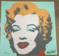 Andy Warhol  litografia  Marilyn Monroe 60x60 cm Certificato di autenticita