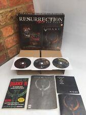 QUAKE RESURRECTION PACK / ORIGINAL BIG BOX PC GAME / 3 DISC / COLLECTORS SET