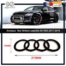 Anneaux Noir Brillant pour calandre A4 A6 Q7 A5 S5 S6 RS5 Sportback 273x93 MM