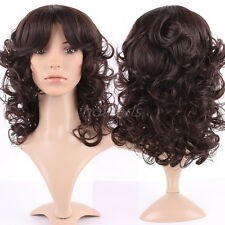 Elegant Long Wig Black Brown Blonde Grey Red Ombre Hair Mix Full Wigs Cosplay US