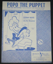 Popo The Puppet Can Do Anything - Sylvia Fine - Danny Kaye - Vintage Sheet Music