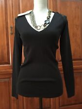 New Celine Black Sweater Runway Cruise L $1980