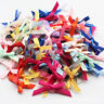 50Pcs Wedding and Party Supply Cute Small Ribbon Bows Tied Craft Decoration