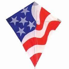 "In The Breeze Kites 30"" Patriotic Diamond Kite With 3 14' Tails"
