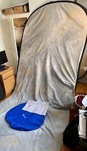 Lastolite Mottled Grey Background Pop-Up 6ft x 5ft Good Condition Portable Trail