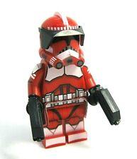 Lego COMMANDER FOX Minifigure -Custom Printed Body! DC-17 Pistols, Helmet - NEW