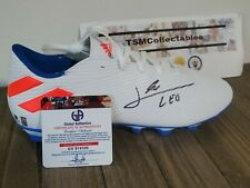 LIONEL LEO MESSI SIGNED AUTOGRAPHED SOCCER CLEAT, BOOT w COA FC Barcelona shoe