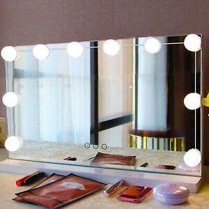 10pcs LED Makeup Mirror Light Bulb Kit Dimmable Vision Hollywood Vanity Lights