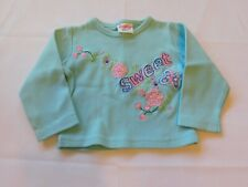 "Snugabye Baby Girl's Youth Long Sleeve T Shirt Size 3-6 Months ""Sweet"" GUC"