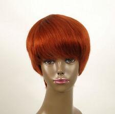perruque afro femme 100% cheveux naturel courte cuivré intense ref WHIT 06/130