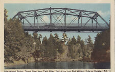 International Bridge Pigeon River PORT ARTHUR & FORT WILLIAM Ontario 1940s PECO