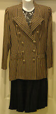 ALLISON CHE WOMENS 8 M NAUTICAL INSPIRED BLAZER JACKET PLEATED MODEST SKIRT SUIT