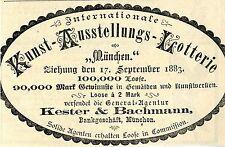Para offerte arte internacional-fechas de emisión lotería munich anuncio 1883