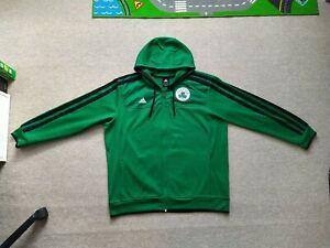 Adidas Basketball Nba Boston Celtics Men's Zip Up Hoodie Size XXL